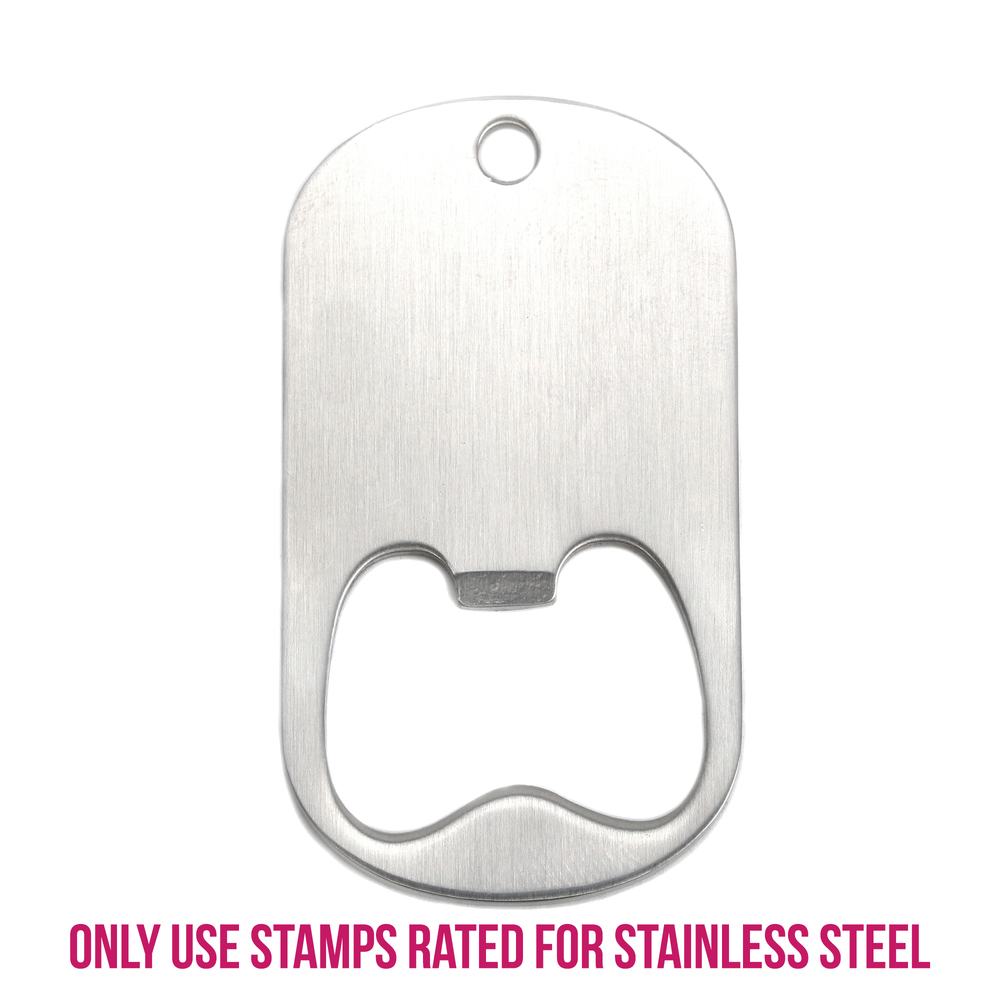 Stainless Steel Bottle Opener Blank with Hole, 54mm (2 13