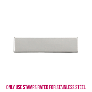 "Metal Stamping Blanks Stainless Steel Rectangle Bar, 36mm (1.41"") x 8.9mm (.35""), 22g, Pk of 5"