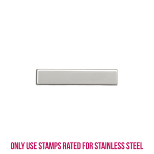 "Metal Stamping Blanks Stainless Steel Rectangle Bar, 31.9mm (1.26"") x 6.5mm (.26""), 22g, Pk of 5"