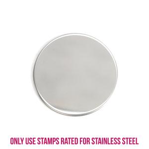 "Metal Stamping Blanks Stainless Steel Round, Disc, Circle, 32mm (1.25""), 22g, Pk of 5"