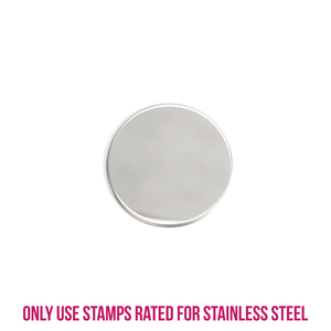 """Metal Stamping Blanks Stainless Steel Round, Disc, Circle, 19mm (.75""""), 22g, Pack of 5"""