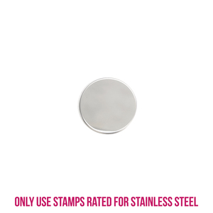 """Metal Stamping Blanks Stainless Steel Round, Disc, Circle, 16mm (.63""""), 22g, Pack of 5"""