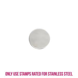 "Metal Stamping Blanks Stainless Steel Round, Disc, Circle, 16mm (.63""), 22g, Pk of 5"