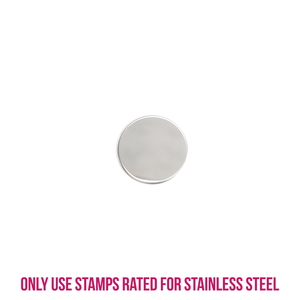 "Metal Stamping Blanks Stainless Steel Round, Disc, Circle, 13mm (.5""), 22g, Pk of 5"