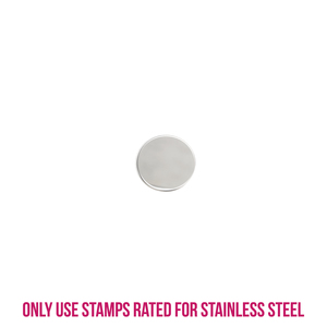 """Metal Stamping Blanks Stainless Steel Round, Disc, Circle, 9.5mm (.375""""), 22g, Pack of 5"""