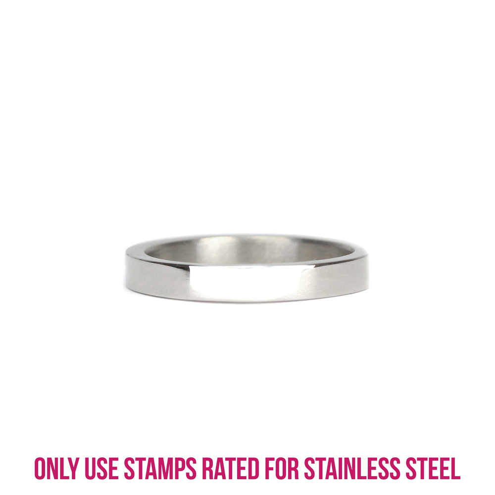 Metal Stamping Blanks Stainless Steel Ring Stamping Blank, 3mm Wide, SIZE 6