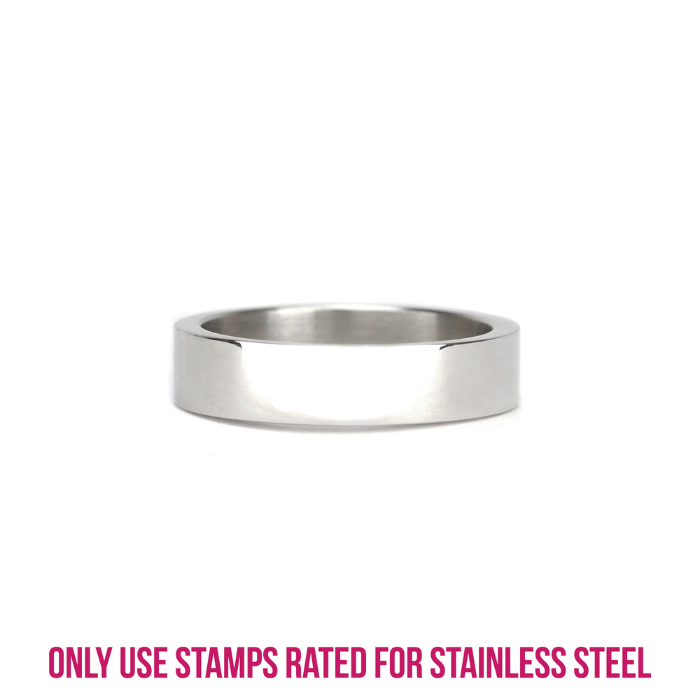 Metal Stamping Blanks Stainless Steel Ring Stamping Blank, 5mm Wide, SIZE 6