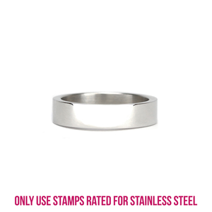 Metal Stamping Blanks Stainless Steel Ring Stamping Blank, 5mm Wide, SIZE 8