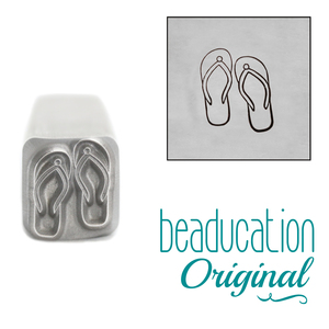 Metal Stamping Tools Flip Flop Metal Design Stamp, 9mm - Beaducation Original