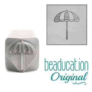 Metal Stamping Tools Beach Umbrella Metal Design Stamp, 10mm - Beaducation Original