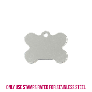 """Metal Stamping Blanks  Stainless Steel Bone with Hole, 27mm (1.06"""") x 20.5mm (.81""""), 16g"""