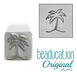 Metal Stamping Tools Palm Tree Metal Design Stamp, 11mm - Beaducation Original