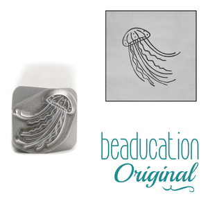 Metal Stamping Tools Jellyfish Design Stamp, 9.5mm - Beaducation Original