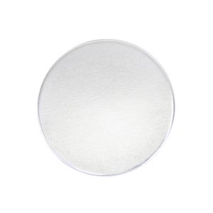 "Metal Stamping Blanks Aluminum Round, Disc, Circle, 25mm (1""), 12g, Pack of 5 - Tumbled"