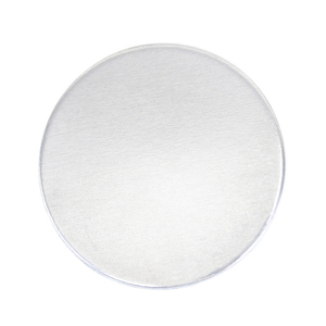 "Metal Stamping Blanks Aluminum Round, Disc, Circle, 32mm (1.25""), 12 Gauge, Pack of 5 - Tumbled"
