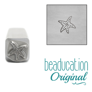 Metal Stamping Tools Starfish Metal Design Stamp, 4mm - Beaducation Original