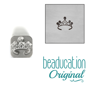 Metal Stamping Tools Tiara Metal Design Stamp, 5mm - Beaducation Original