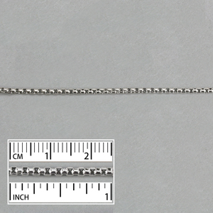 Chain & Clasps Stainless Steel 2.4mm Thick Box Chain, by the Foot