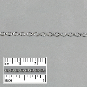 Chain & Clasps Stainless Steel 1.85mm Thin Flat Cable Chain, 5 Feet
