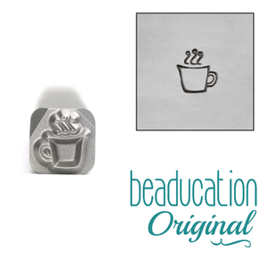 Metal Stamping Tools Coffee Mug Metal Design Stamp, 4.5mm - Beaducation Original