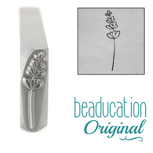 Metal Stamping Tools Lavender Pointing Left Metal Design Stamp, 17mm - Beaducation Original