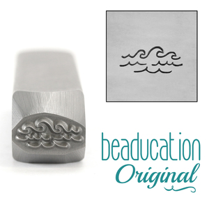 Metal Stamping Tools Ocean Breaking Waves, Water, Metal Design Stamp, 10.5mm - Beaducation Original
