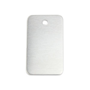 "Metal Stamping Blanks Aluminum Rectangle 38mm (1.5"") x 22mm (.86""), 14g, Pk of 5"