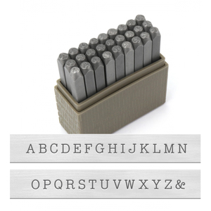 Metal Stamping Tools ImpressArt Uppercase Basic Typewriter Letter Stamp Set, 3mm