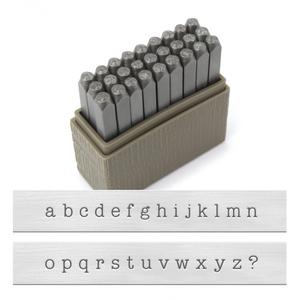 Metal Stamping Tools ImpressArt Lowercase Basic Typewriter Letter Stamp Set, 3mm