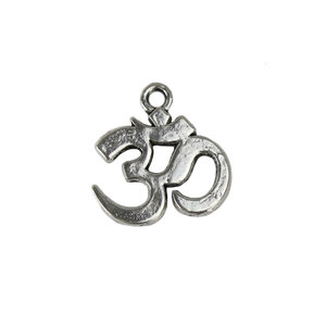 Charms & Solderable Accents Base Metal Om Charm, Pack of 10