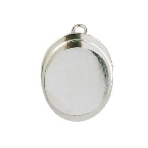 Sterling Silver Oval Bezel Cup