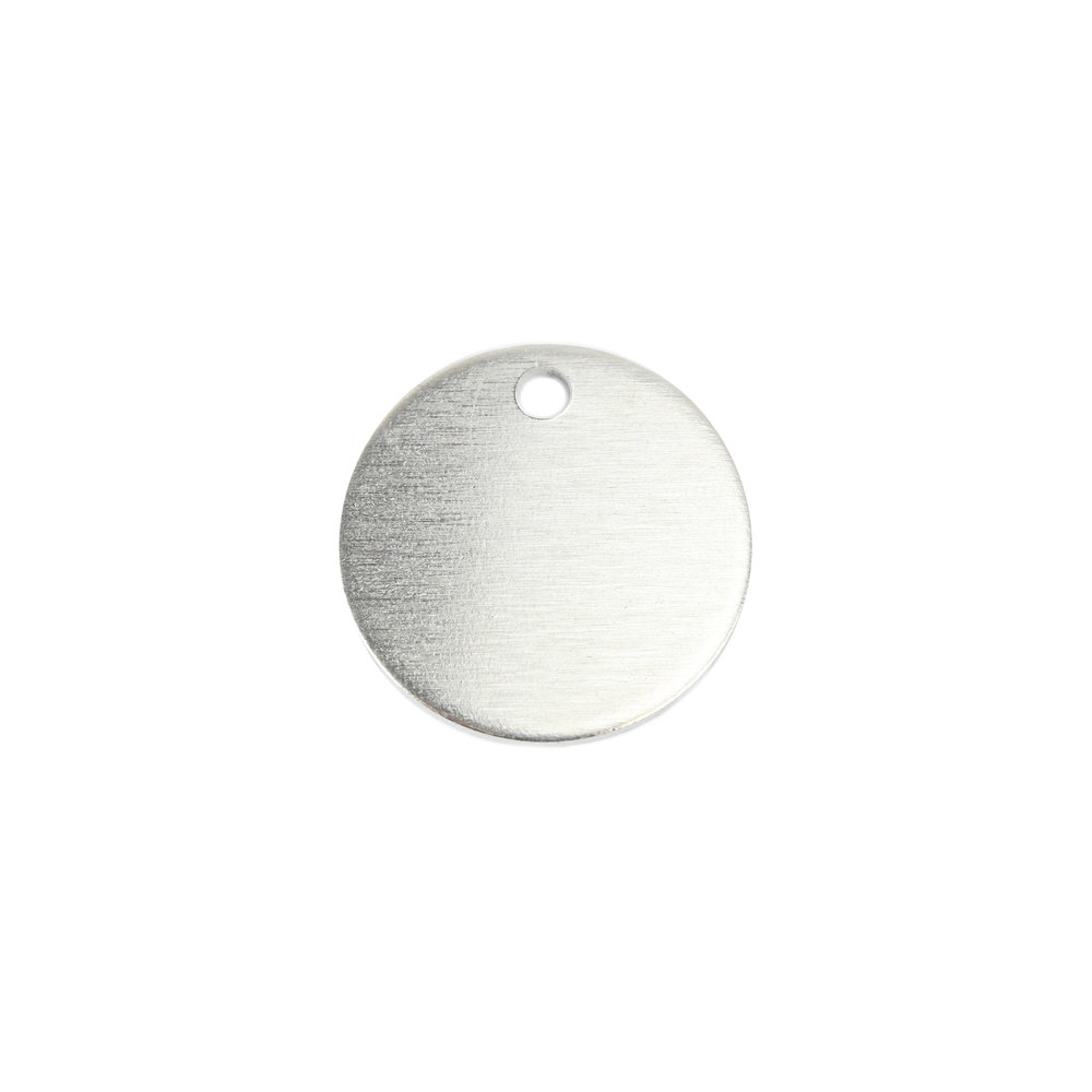 "Metal Stamping Blanks Aluminum Round, Disc, Circle with Hole, 19mm (.75""), 14g, Pack of 5"