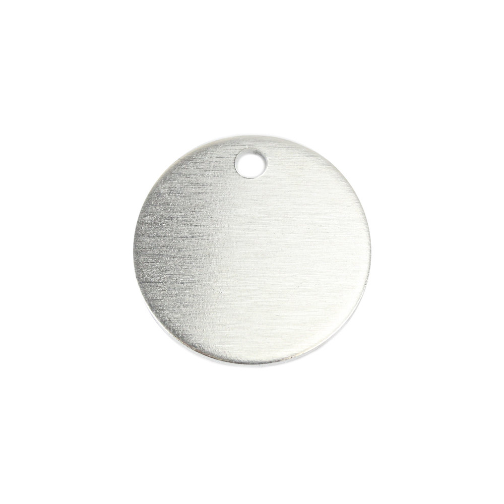 "Metal Stamping Blanks Aluminum Round, Disc, Circle with Hole, 25mm (1""), 14g, Pack of 5"