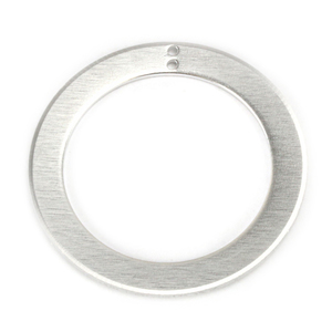 "Metal Stamping Blanks Aluminum Washer, 51mm (2"") with 38mm (1.5"") ID with 2 Holes, 14g, Pack of 5"