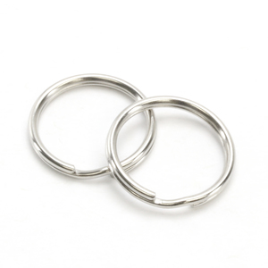 "Rivets and Findings  Base Metal Silver Color, 25mm (1"") Split Ring, Key Ring - Pack of 25"