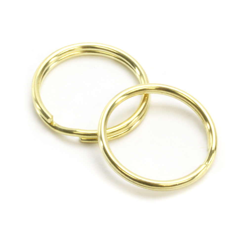 "Rivets and Findings  Base Metal Gold Color, 25mm (1"") Split Ring, Key Ring - Pack of 25"