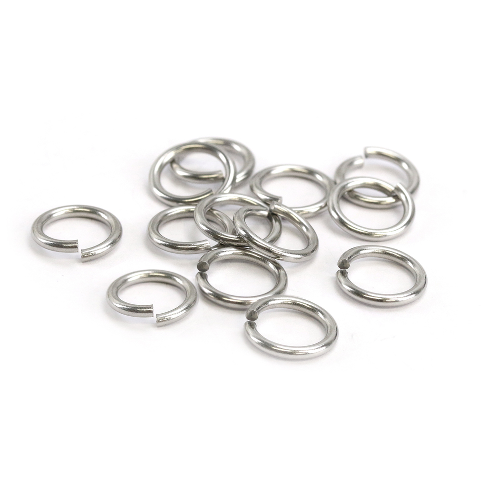 Jump Rings Stainless Steel 8mm I.D. 14 Gauge Jump Rings, 1/4 oz (~15 rings)