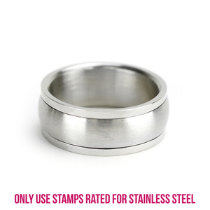 Metal Stamping Blanks Stainless Steel Spinner Ring Stamping Blank, 7.85mm Wide, SIZE 6
