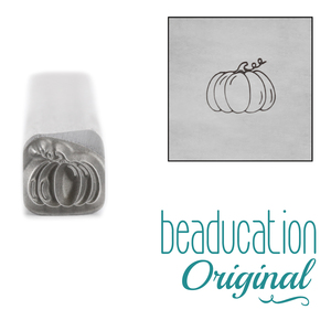 Metal Stamping Tools Pumpkin Metal Design Stamp, 4.5mm - Beaducation Original