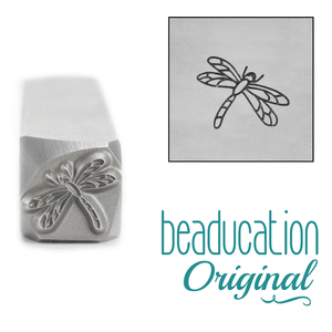 Metal Stamping Tools Dragonfly Metal Design Stamp, 8.2mm - Beaducation Original
