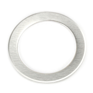 "Metal Stamping Blanks Aluminum Washer , 51mm (2"") with 38mm (1.5"") ID, 14g, Pack of 5"