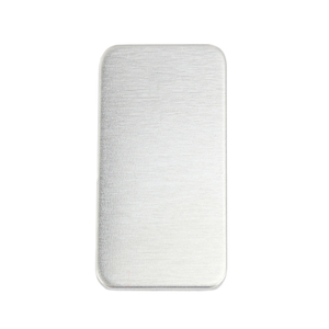 "Metal Stamping Blanks Aluminum Rectangle 51mm (2"") x 25mm (1""), 14g, Pack of 5"
