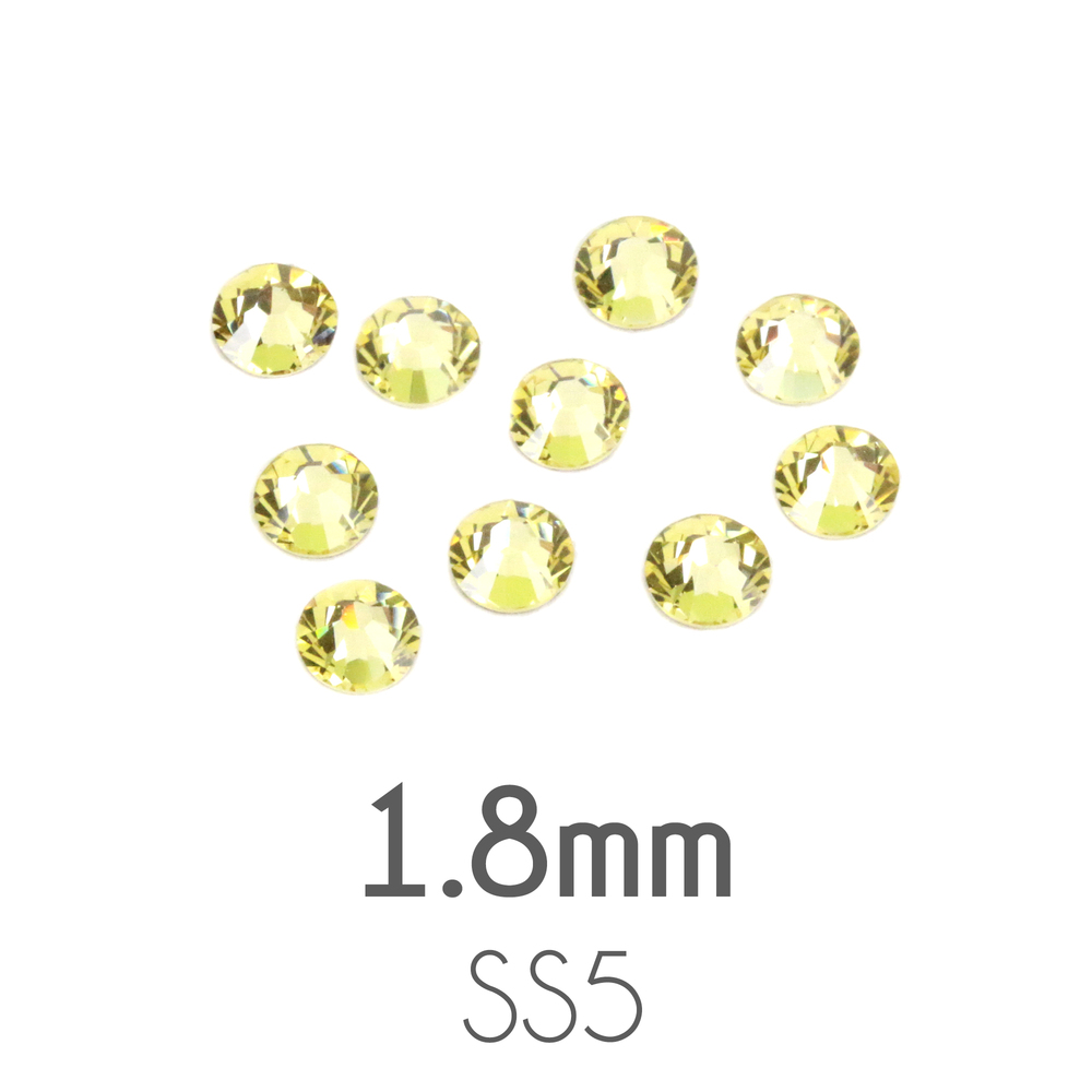 Beads & Swarovski Crystals 1.8mm Swarovski Flat Back Crystals, Jonquil, Pack of 20