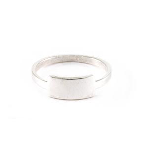 Metal Stamping Blanks Sterling Silver Tab Ring Stamping Blank, SIZE 5