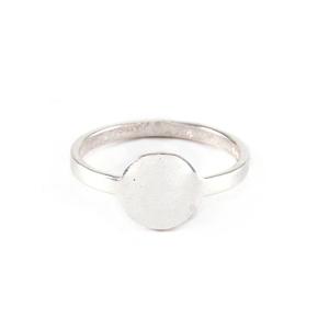 Metal Stamping Blanks Sterling Silver Circle Ring Stamping Blank, SIZE 5