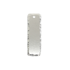 "Metal Stamping Blanks Aluminum Rectangle, 38.1mm (1.5"") x 12.7mm (.50""), 14 Gauge, with Textured Edge and Hole, Pack of 5"