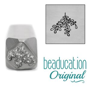 Metal Stamping Tools Berry Branch / Mistletoe Metal Design Stamp, 10mm - Beaducation Original