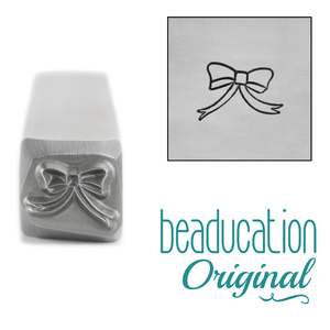 Metal Stamping Tools Ribbon Bow Metal Design Stamp, 7.5mm - Beaducation Original