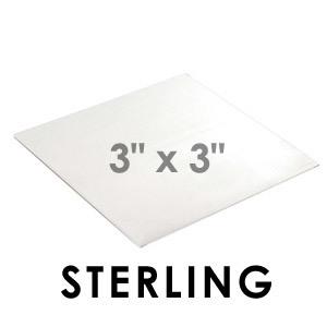 "Wire & Sheet Metal Sterling 20 gauge Sheet Metal, 3"" x 3"" piece"