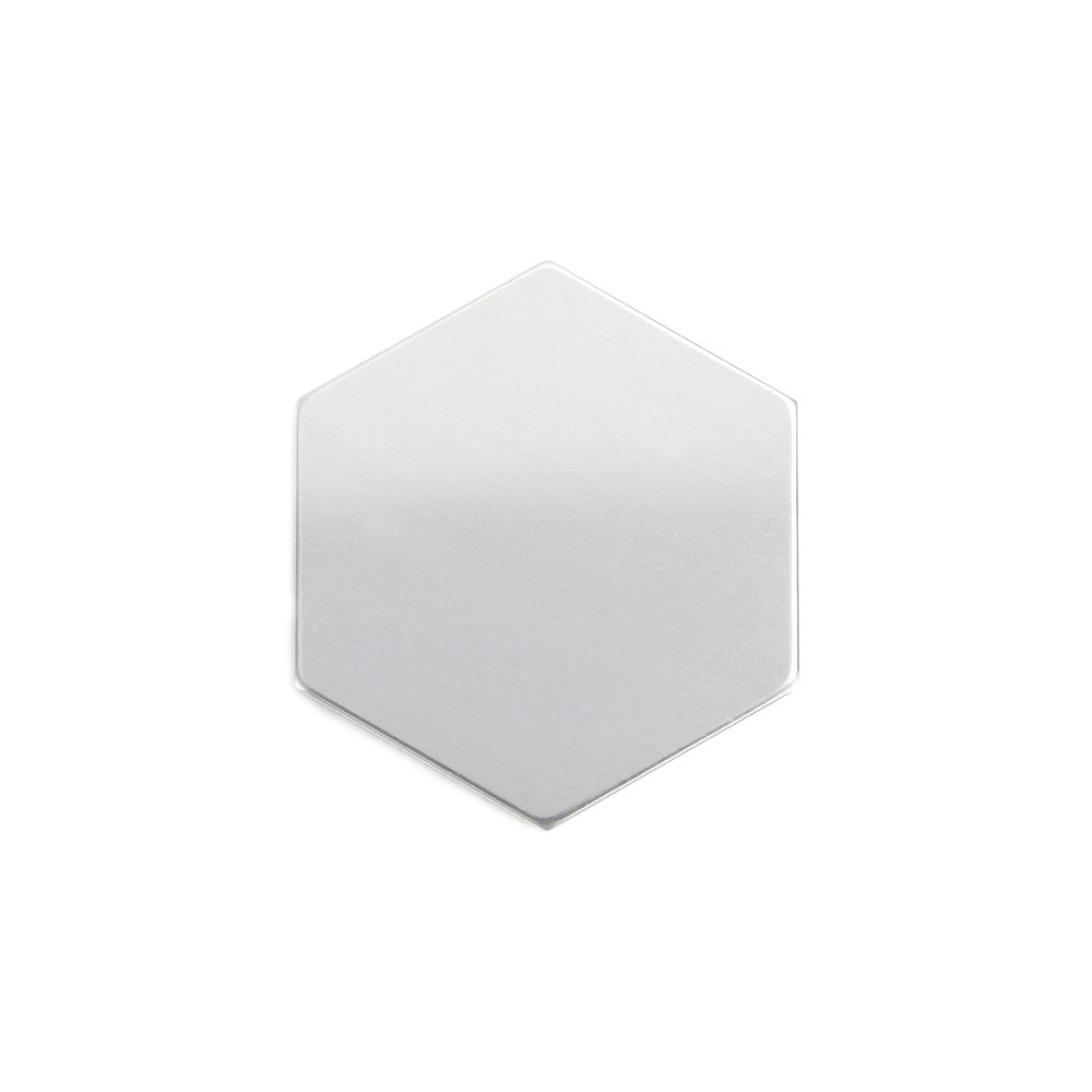 "Metal Stamping Blanks Aluminum Hexagon 22mm (.87""), 18 Gauge, Pack of 5"